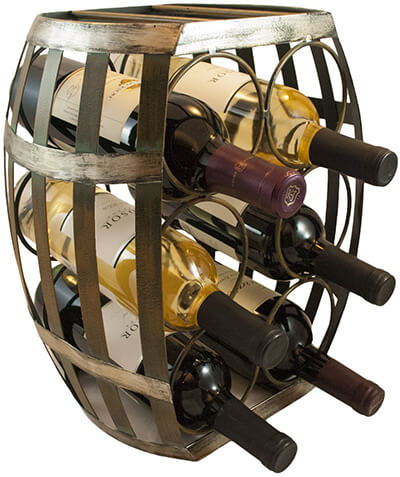 wine barrel shaped storage rack