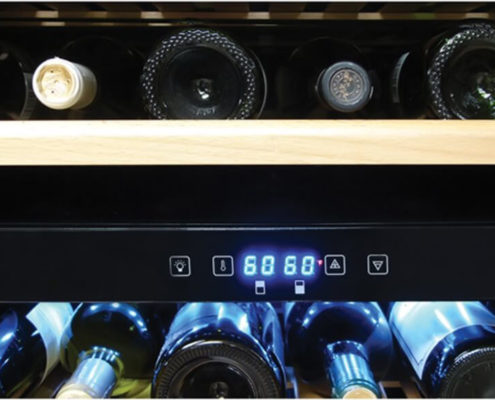 close up of the vinotemp 155 bottle cooler