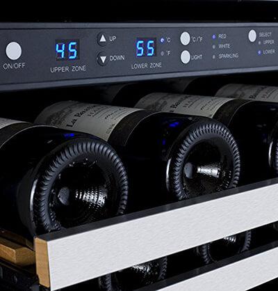 allavino wine refrigerator controls