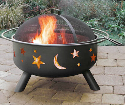 stars and moon fire pit