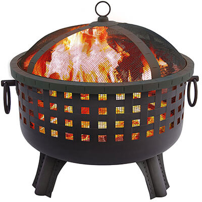 garden light fire pit