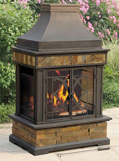 sunjoy outdoor chimney