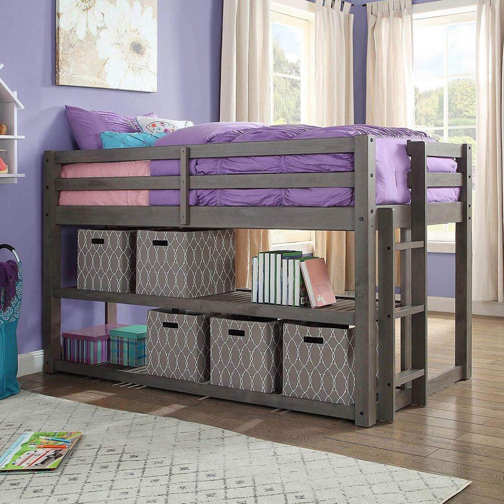BHG loft bed with storage