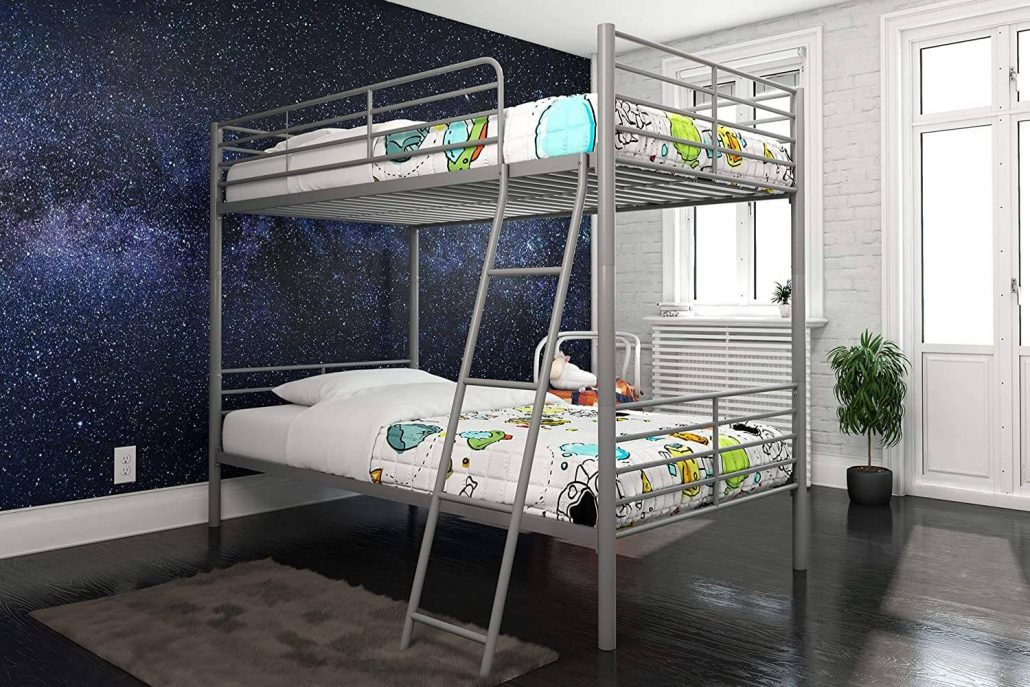 DHP twin over twin convertible metal bunk bed, can be separated into two beds