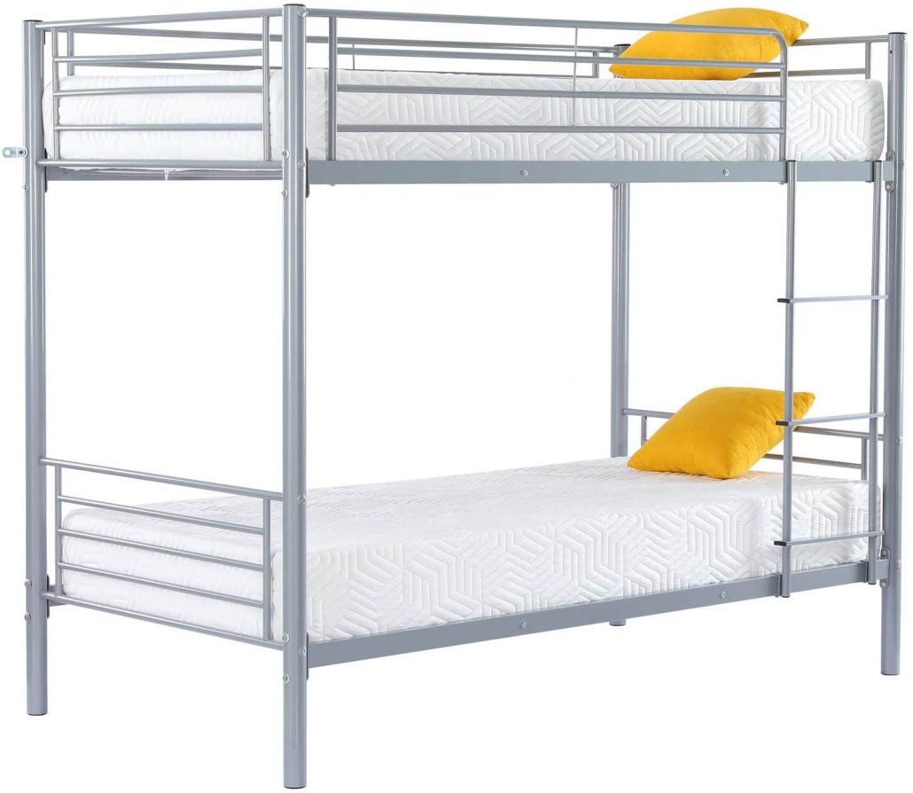 FCH twin over twin metal bunk bed frame