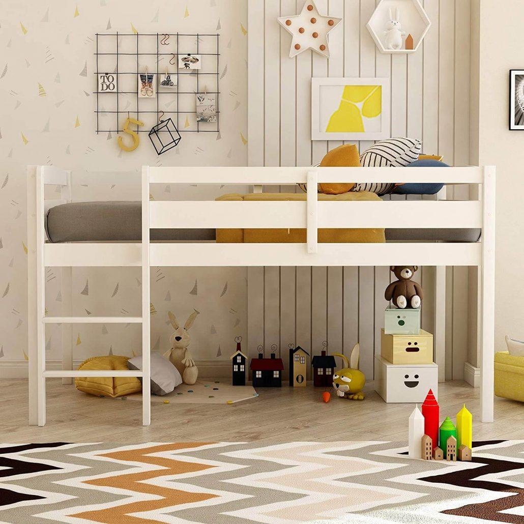 Harper Bright loft bed with ladder