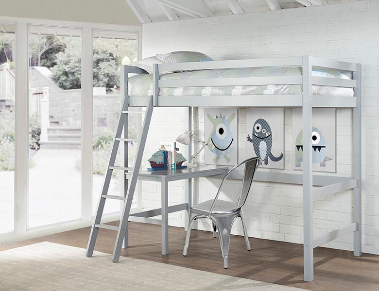 Hillsdale Furniture wood loft bed with desk