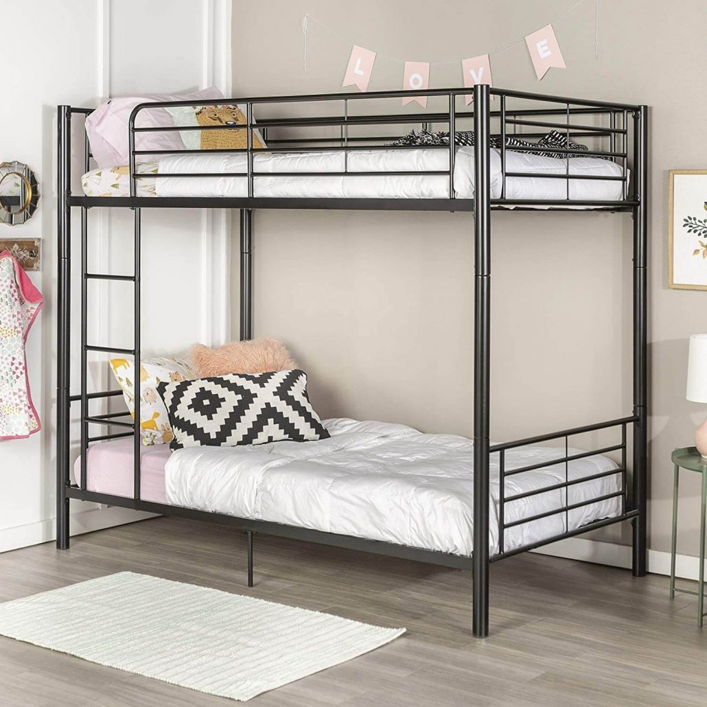 Home accent furnishings twin over twin awesome metal bunk bed for kids