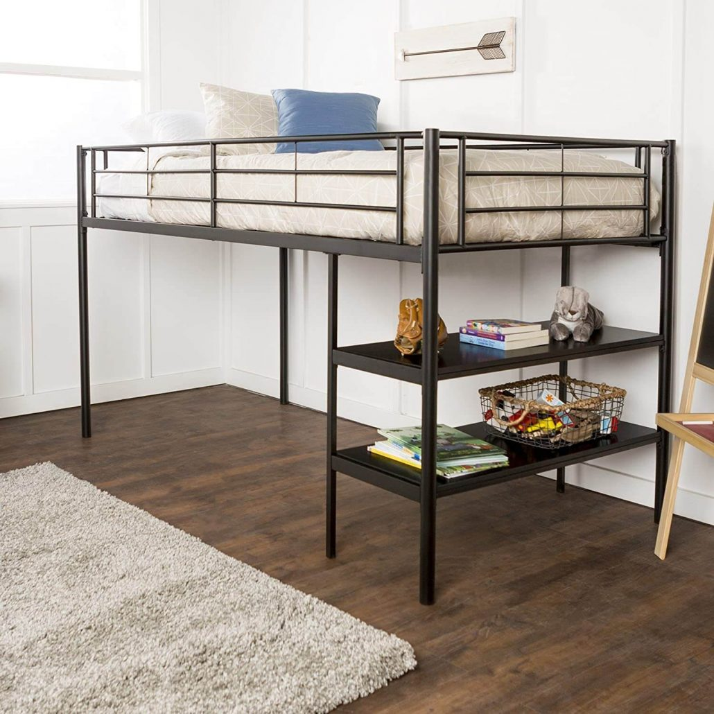 Home Accent Furnishings metal loft bed with desk
