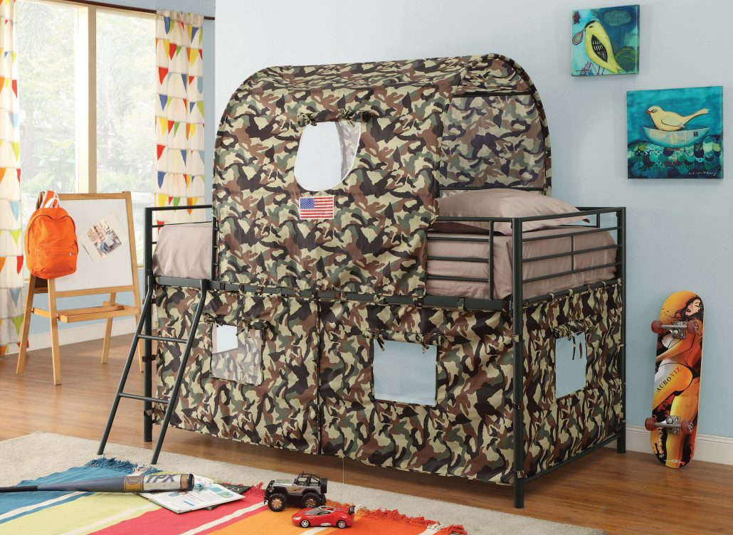 awesome loft bed camouflage scaled