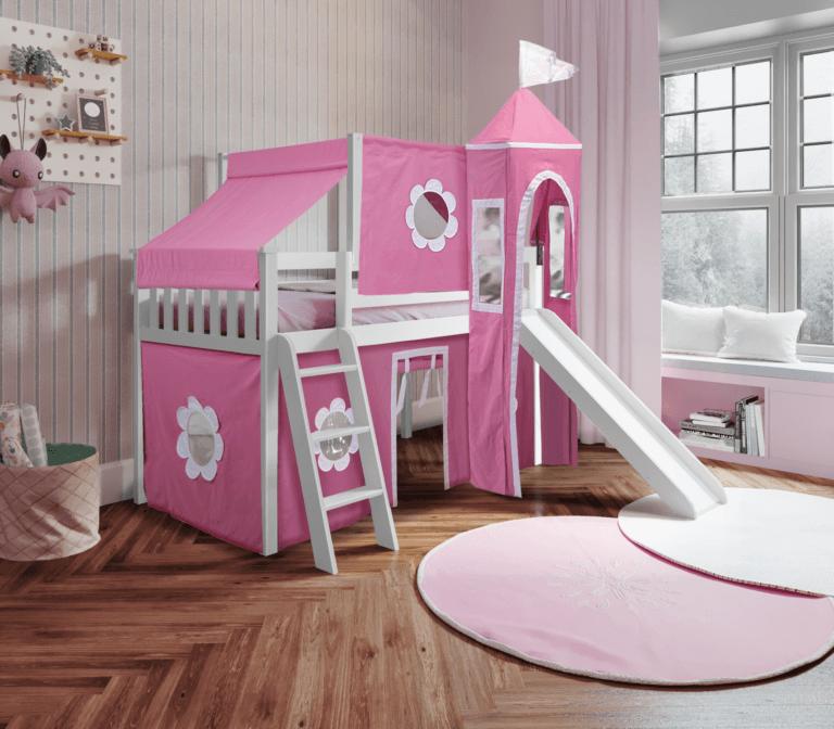 princess loft bed slide for girls