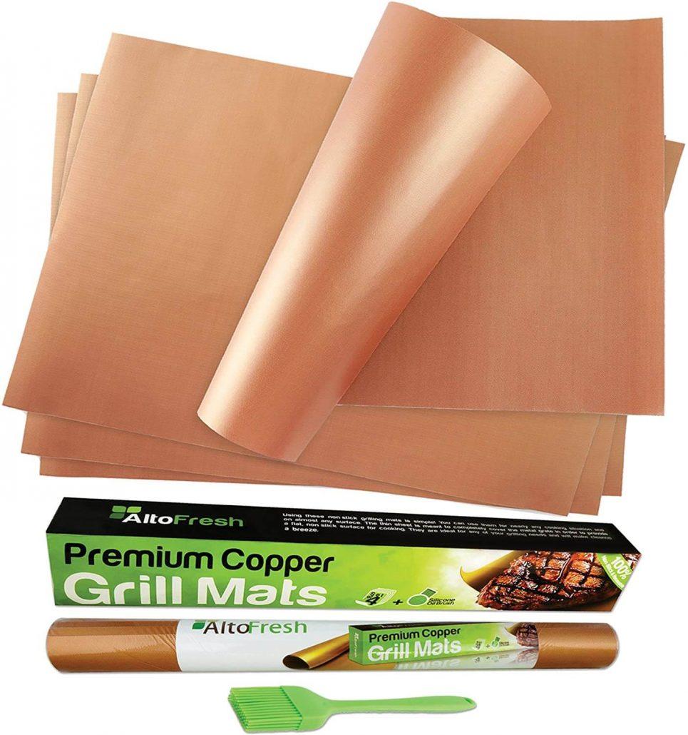 Alto fresh copper bbq grill mats and oil brush