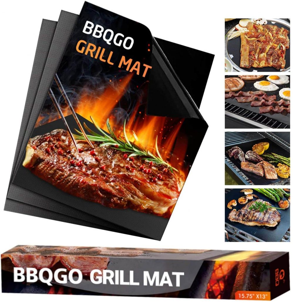BBQGO nonstick bbq grill mats, set of 3