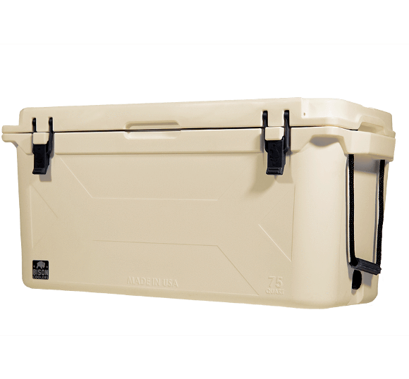 Bison double insulated rotomolded cooler, made in USA