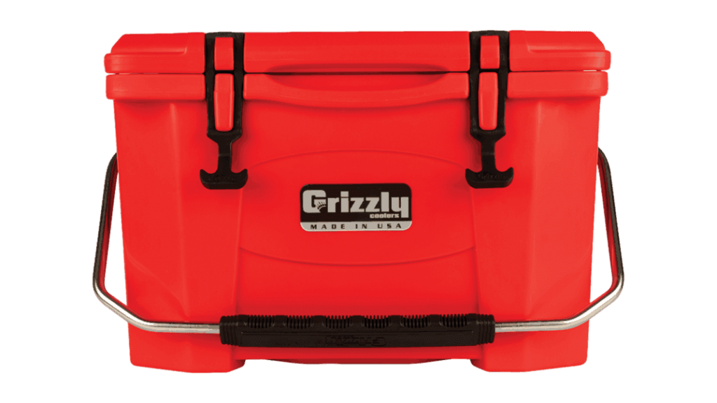 Grizzly 20 quart rotomolded cooler made in USA