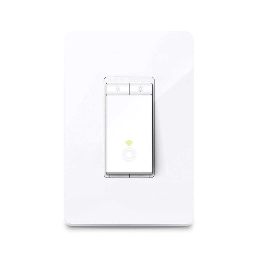 Kasa smart dimmer remote light switch.