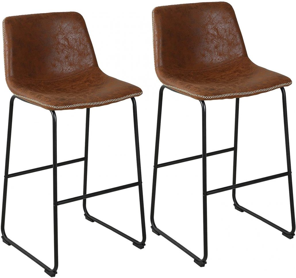 Lssbought microfiber modern barstools, set of two.