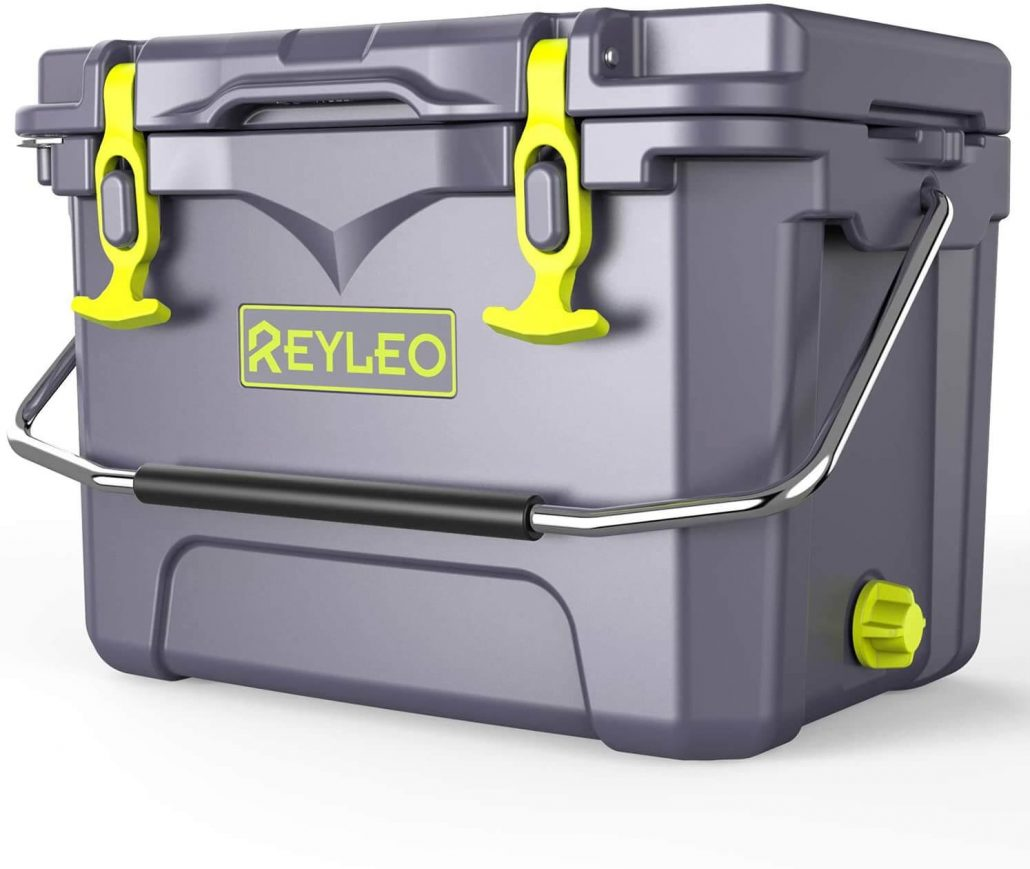 Reyleo 21 quart portable rotomolded cooler