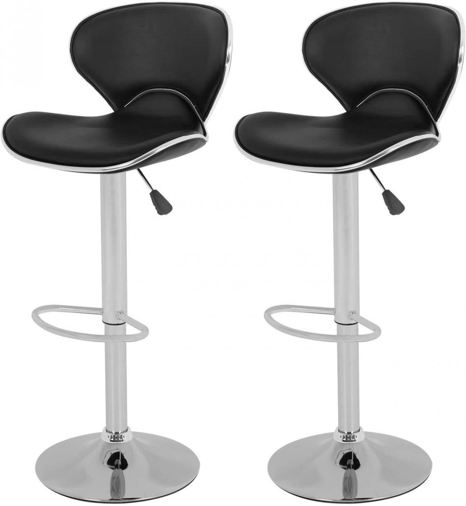 Vnewone modern barstools with ergonomic design, set of two.