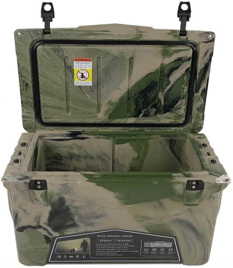 Xspec 60 quart rotomolded cooler camouflage