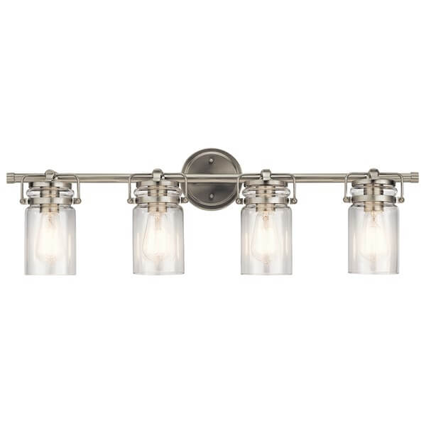 Kichler four light mason jar vanity light.