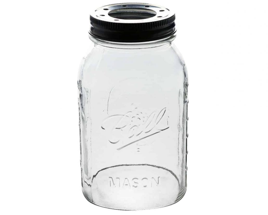 Mason jar replacement glass shade.