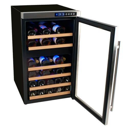 EdgeStar Wine Refrigerator Door Open