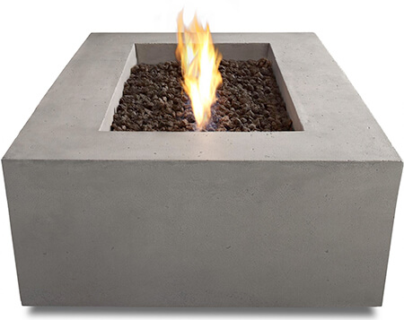 real flame concrete fire pit