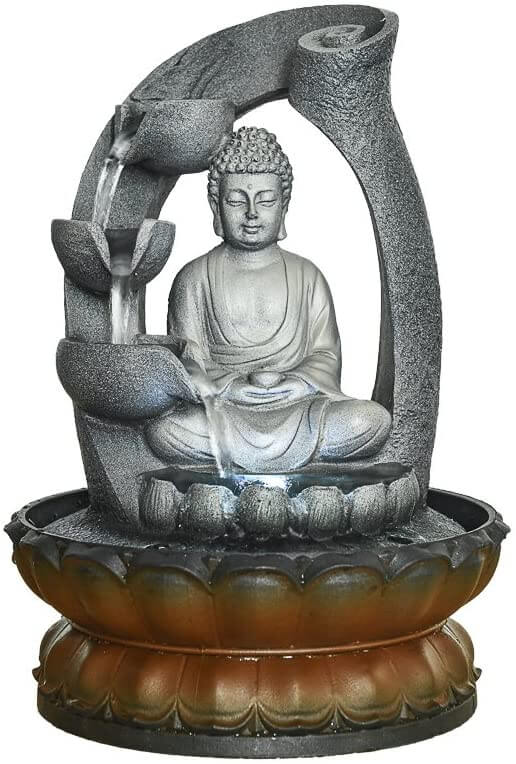 Zen tabletop fountain with buddha by Bbabe.