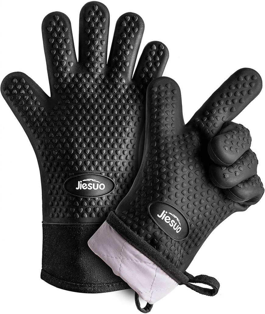 Silicone bbq grill gloves by Jiesuo.