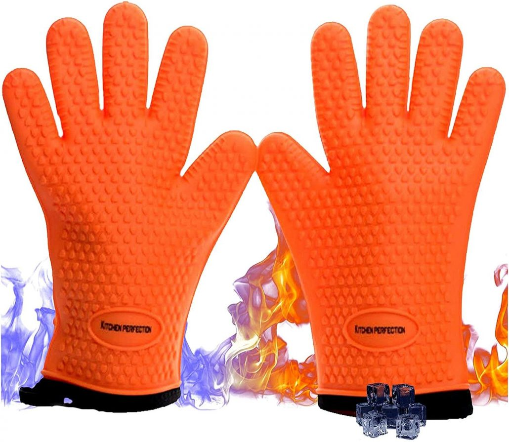 Silicone smoker oven gloves by Kitchen Perfection.