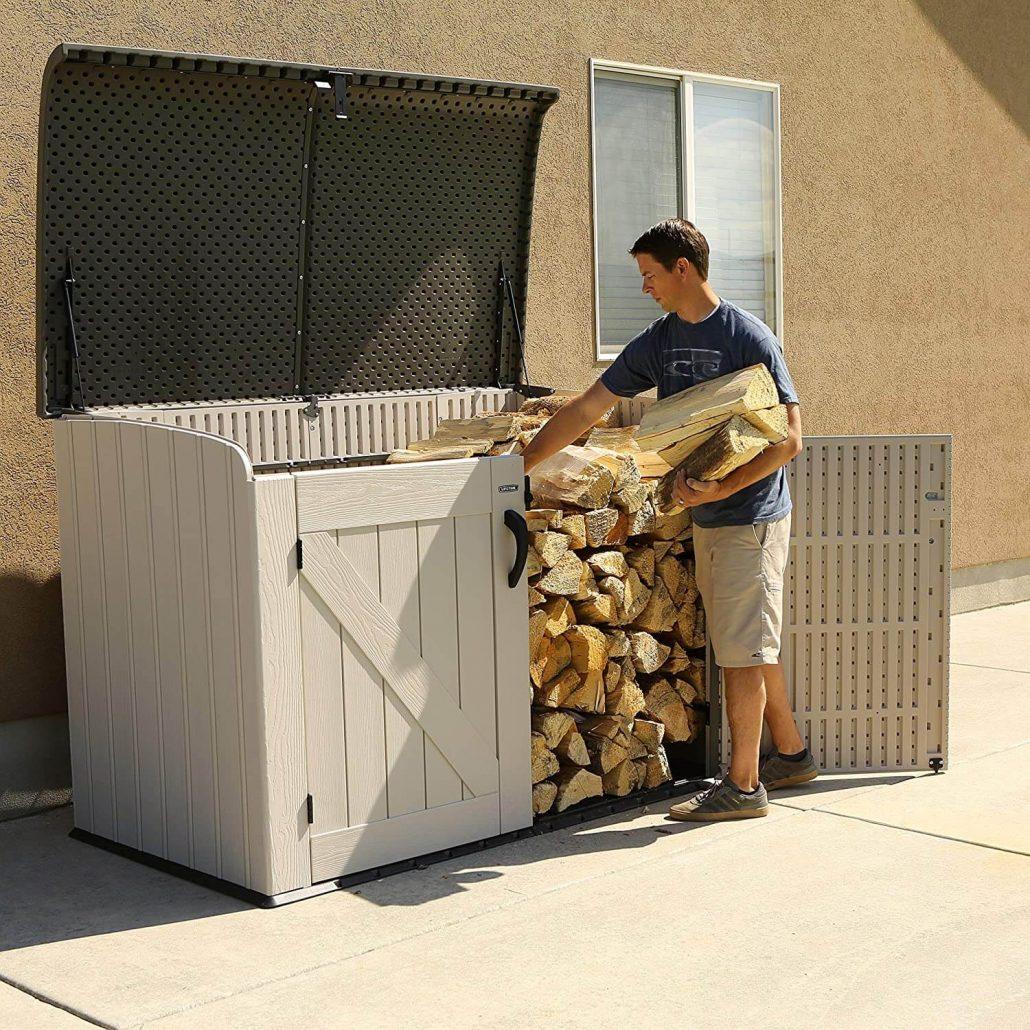 Horizontal storage bin by Lifetime.