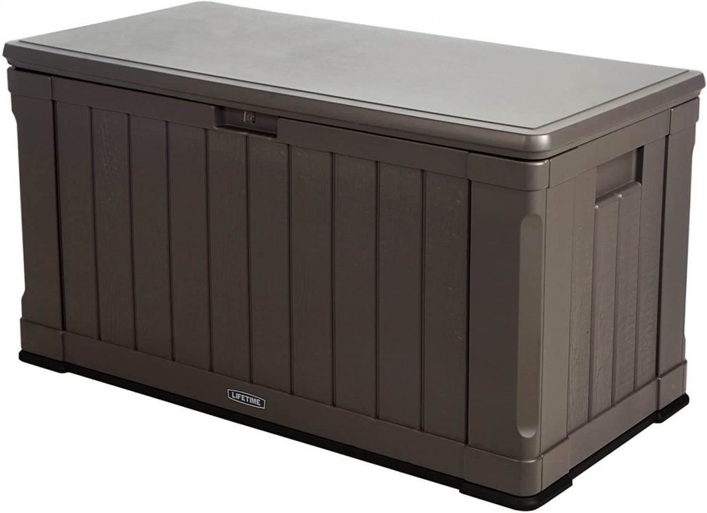 Large deck storage bin by Lifetime.