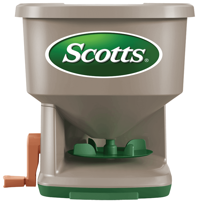 Hand-powered spreader by Scotts.