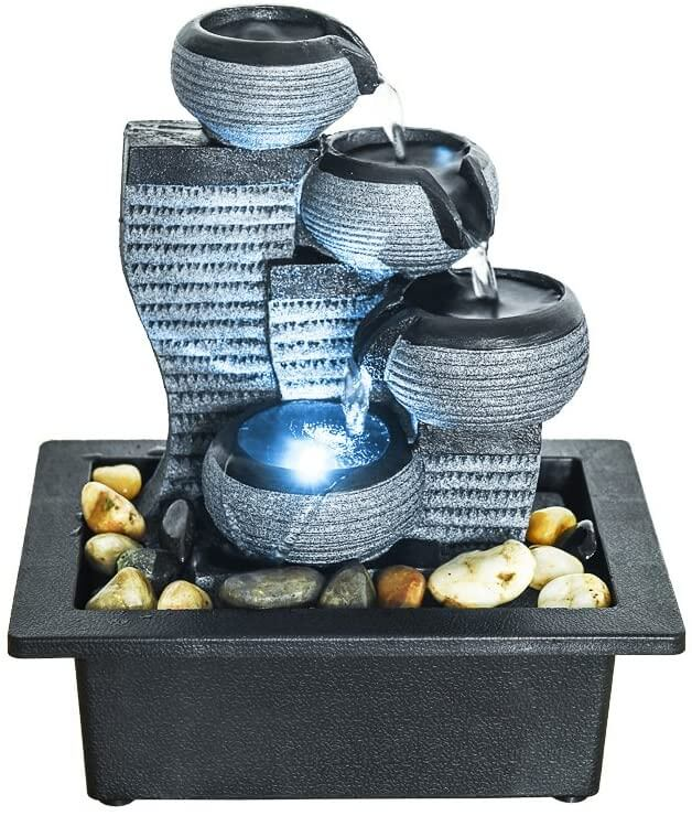Tabletop fountain by SunJet.