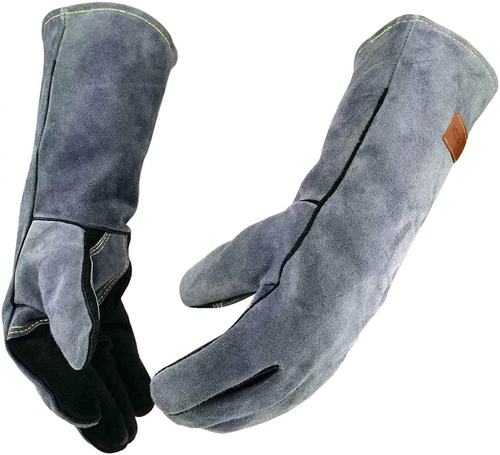 Leather forge welding gloves by WZQH.