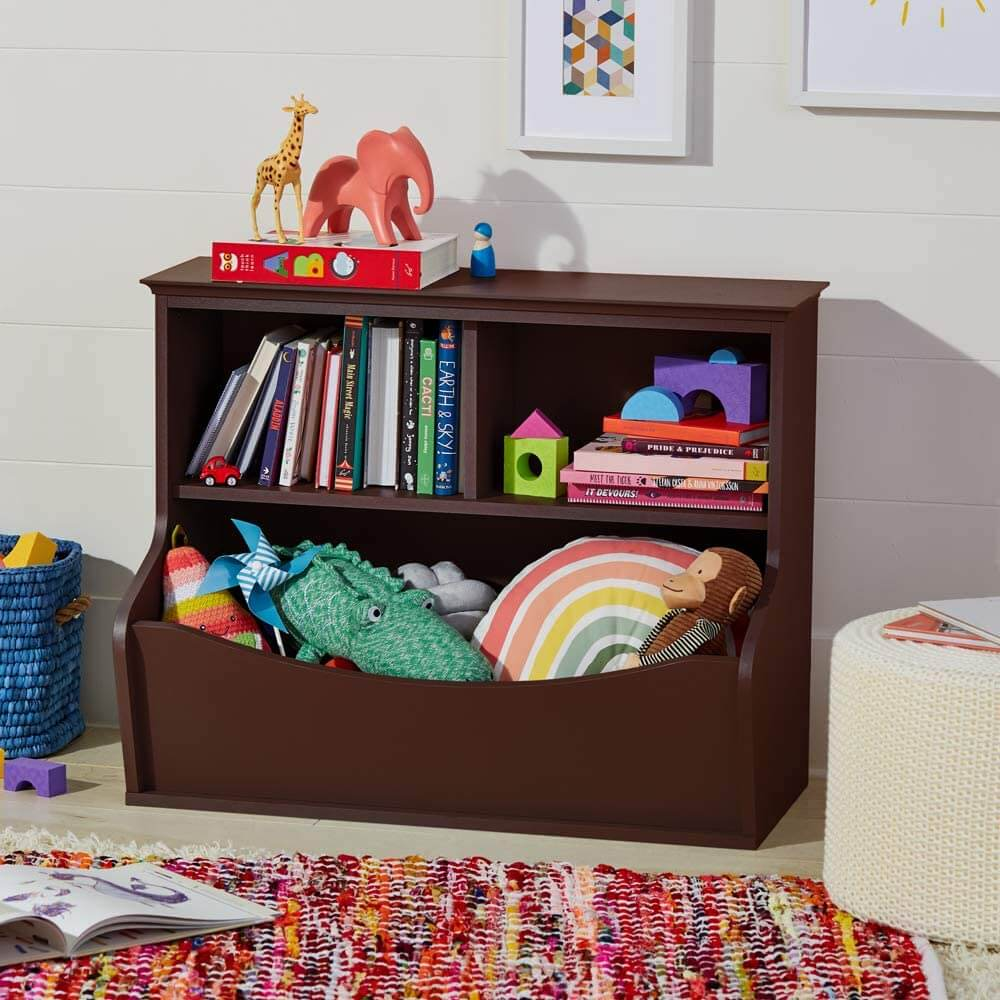 Children's toy and book storage bin by AmazonBasics.