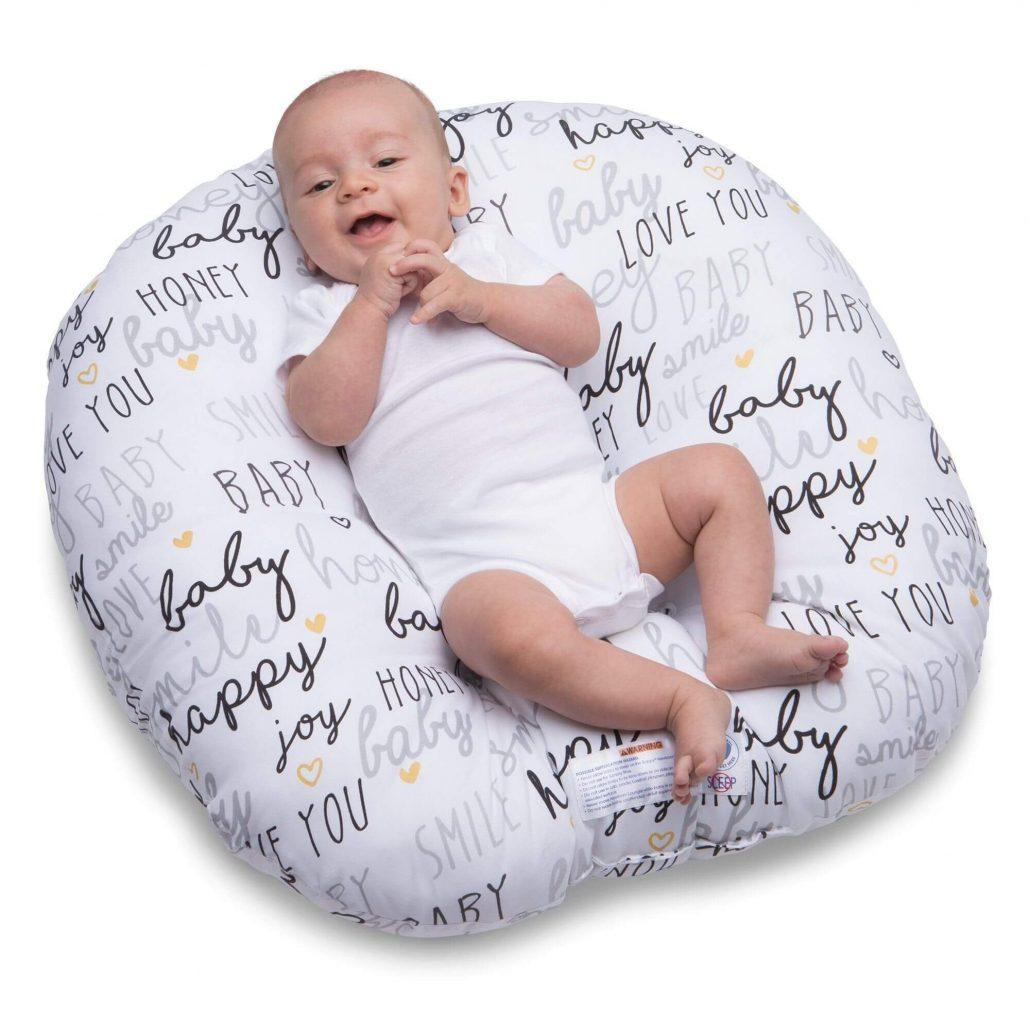 Newborn lounger bean bag chair by Boppy.