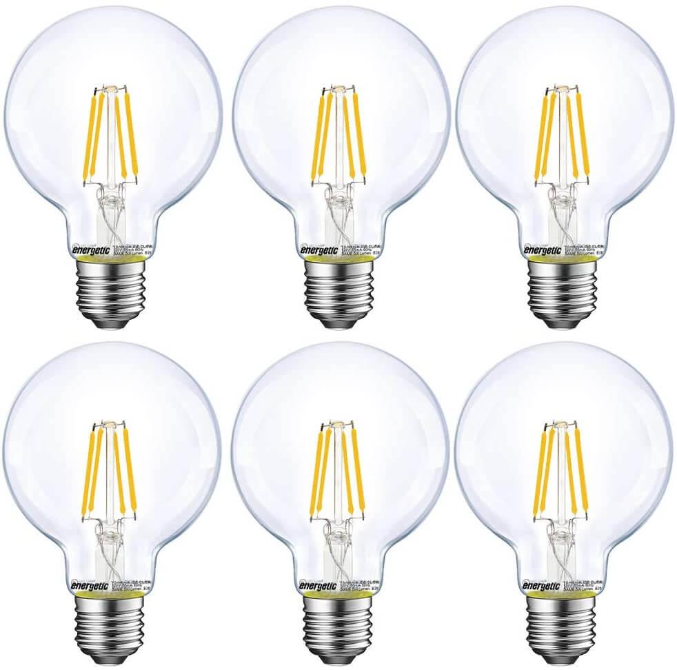 Vanity mirror LED bulbs by Energetic Smarter Lighting.