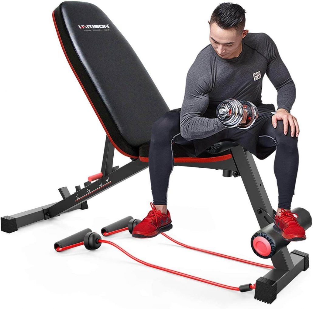 Harison adjustable weight and workout bench.