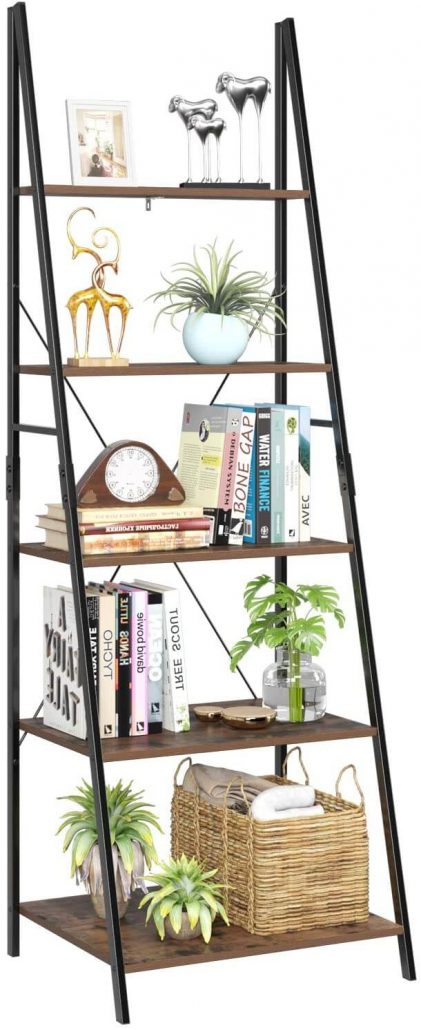 Five tier ladder shelf and display rack by Homfa.