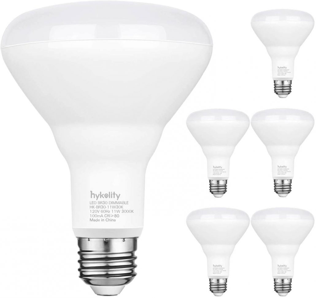 Dimmable LED bulbs for flood lights or recessed light fixtures by Hykolity.