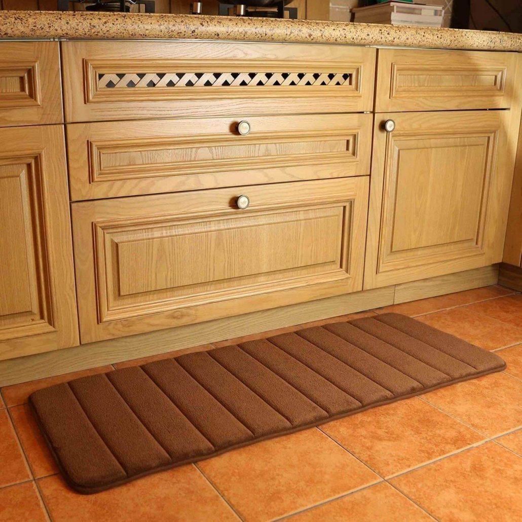 Memory foam kitchen rug runner by Kmat.