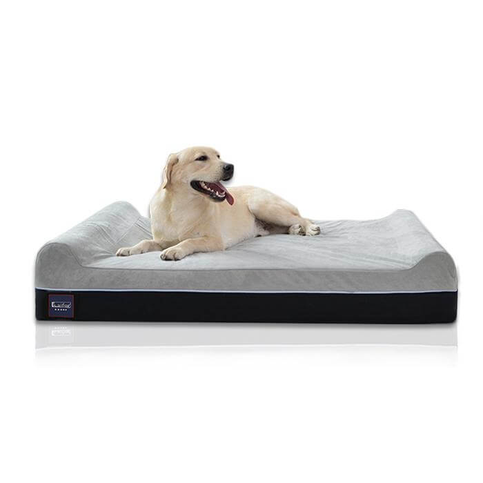 Extra large durable dog bed made with memory foam by Laifug.