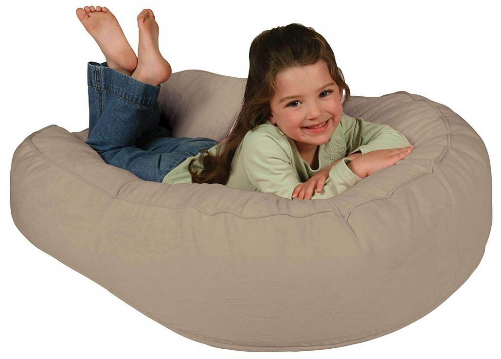 Leacho lounger bean bag chair for kids three and up.