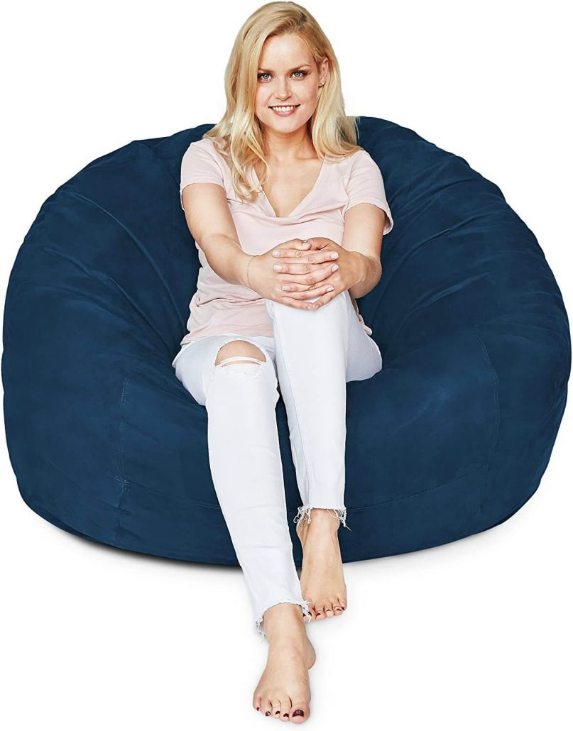 Luxury large bean bag chair for adults by Lumaland.