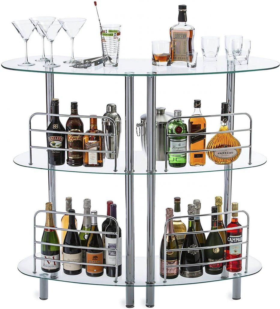 Modern bar table with shelves by Mango Steam.
