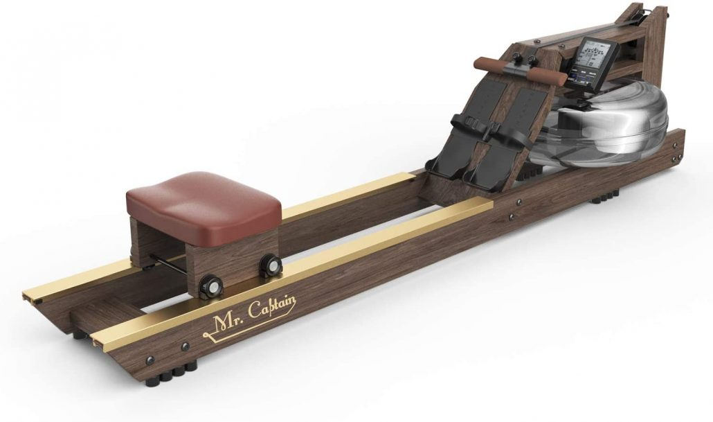 Vintage style wood rowing machine by Mr. Captain.