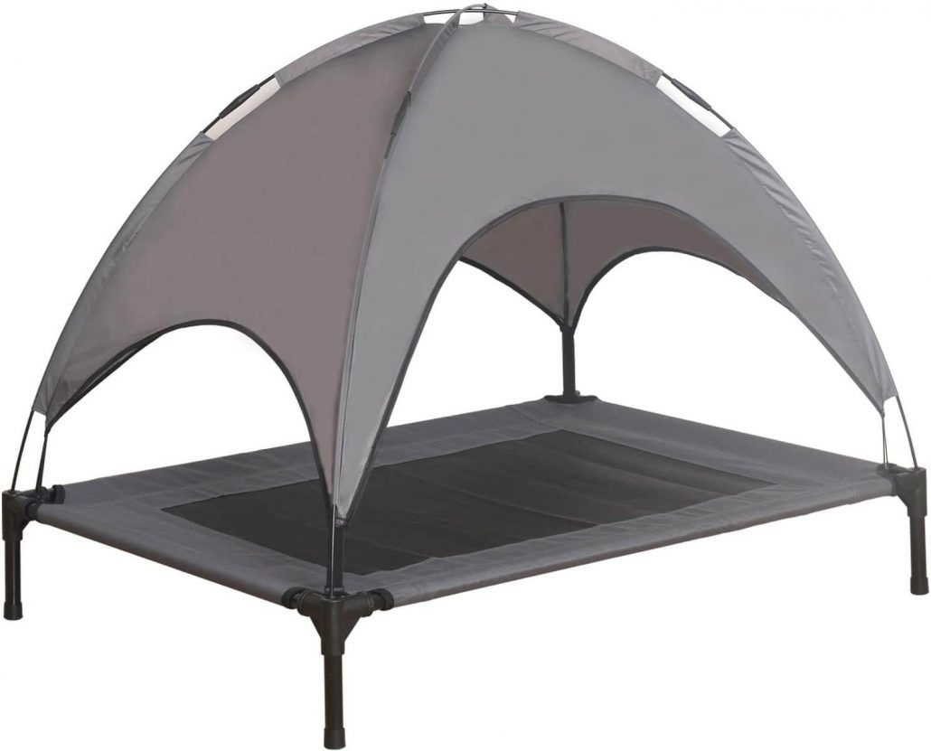 Durable elevated dog bed with canopy by Niubya.