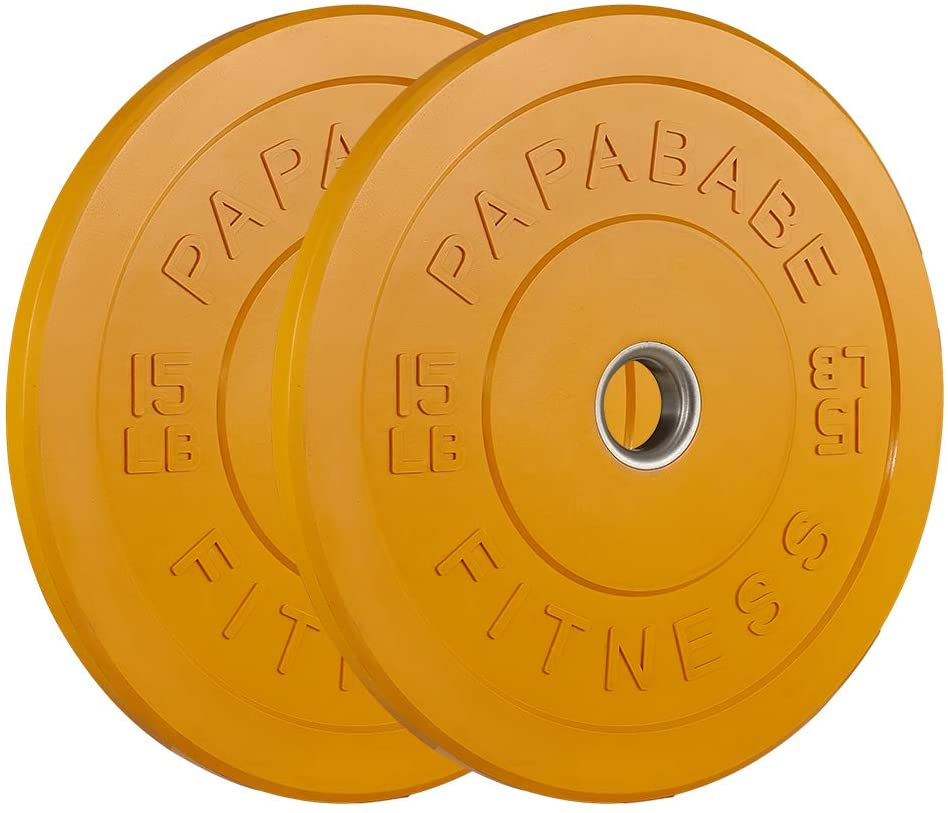 Bumper plates by Papababe.